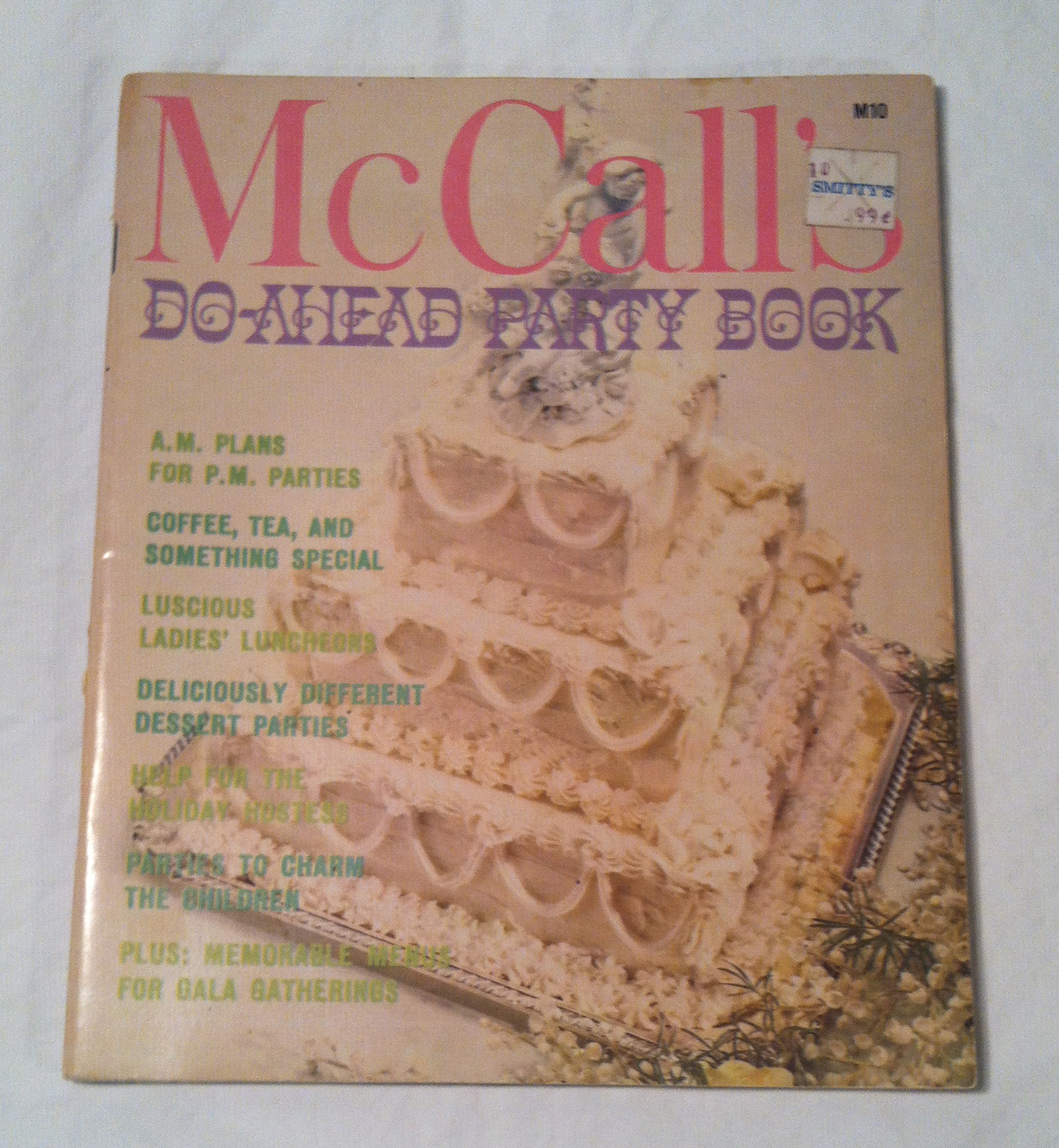 Primary image for Vintage McCall's Do-Ahead Party Book 1970s cookbook holiday birthday recipes