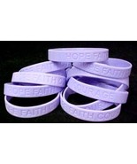 "Lavender Awareness Bracelets Lot of 12 General Cancer Cause Silicone 8"" ... - $16.97"