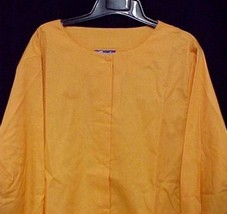 Scrub Jacket 4X Orange Cream Round Neck Scrubs 11335 Discontinued New - $19.57