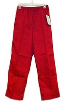 Scrub Pants Ruby Red Small Relaxed Fit Scrubs Cotton Blend Cargo Pocket ... - $14.52