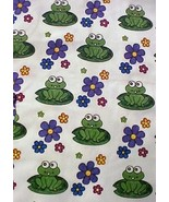 Scrub Top XS St Jude's Children's Hospital Judes Frog Print V-Neck Cotto... - $22.28