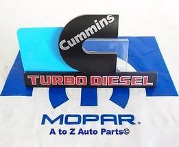 New Dodge Ram Heavy Duty Black Cummins Turbo Diesel Fender Emblem,Oem Mopar - $32.95
