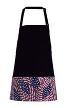 USA Flag Restaurant Bib Apron Baker Butcher Adjustable Neck Strap USA New - $18.40