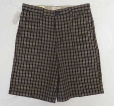 Van Heusen Vintage 32 Plaid Flat Front Cotton C... - $29.37