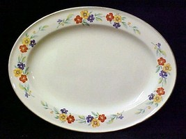 Vintage Knowles Handpainted China Large Oval Fl... - $39.17