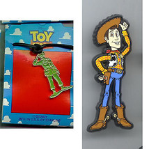 Disney  Woody full body Standing English UK plastic Pin + Green Armyman Necklace - $28.52