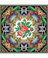 Antique Tapestry Pillow Square Floral Motif Counted Cross Stitch Pattern... - $10.00