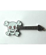 Skull Axe Music Rock Electric Guitar Lapel Pin Badge 3/4 Inch - $4.85