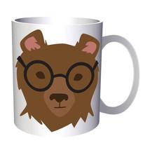 Hipster bear 11oz Mug w126 - $10.83