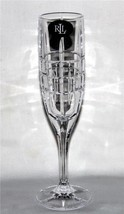 4 Ralph Lauren COCKTAIL PARTY Heavy Lead Crystal Champagne Flutes German... - $78.99