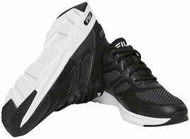 Brand New Women's Fila Black White Memory Foam Frame V6 Athletic Running Shoes image 4