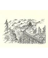 5 Blank Note Cards Kettle Valley Railway, Carmi Ruth CNR Station VTG. St... - $9.94