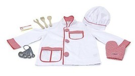 Childs/Kids Cooking Chef Costume Set For Ages 3-4 - Includes Wooden Spoo... - $38.87