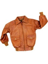 Alpakaandmore Boys Lamb Nappa Leather Jacket Handmade in Peru Satin Backing B... - $255.42