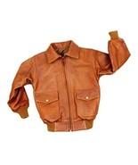 Alpakaandmore Boys Lamb Nappa Leather Jacket Handmade in Peru Satin Back... - $255.42