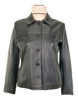 Alpakaandmore Womens Lamb Nappa Leather Classic Style Jacket Satin Lining Bla... - $285.12