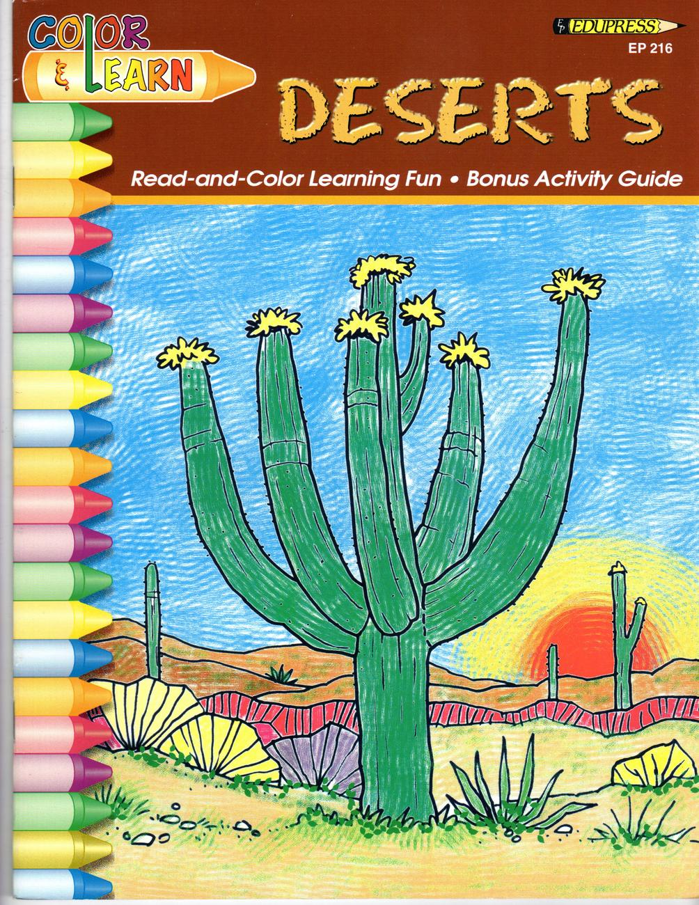 Deserts - (Activity & Coloring Book )