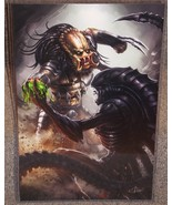 Predator vs Alien Glossy Print 11 x 17 In Hard Plastic Sleeve - $24.99