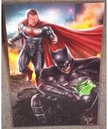 DC Superman vs Batman Glossy Print 11 x 17 In Hard Plastic Sleeve - $24.99
