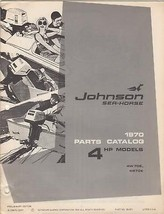 1970 JOHNSON SEAHORSE OUTBOARD 4HP PARTS CATALOG [Paperback] by Manufact... - $17.99