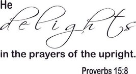 Proverbs 15:8, Vinyl Wall Art, He Delights in t... - $9.79