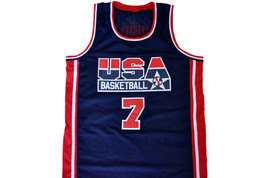 Larry Bird  #7 Team USA Basketball Jersey Navy Blue Any Size image 4