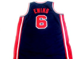 Patrick Ewing #6 Team Usa Basketball Jersey Navy Blue Any Size image 5