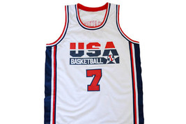Larry Bird #7 Team USA Men Basketball Jersey White Any Size image 4