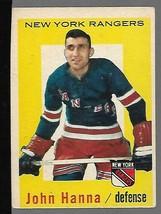 1959-60 Topps #31 John Hanna (RC) VG - $14.83