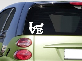Pembroke Welsh Corgi Love sticker *H370* 6 inch vinyl dog herding sheep - $3.19