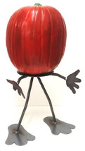 7055 Inc Halloween Pun'kin Head Pumpkin Fruit Head Welded Metal Art - $27.99