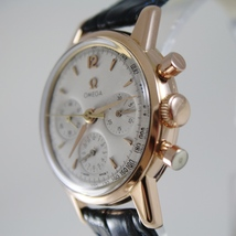 VERY RARE OMEGA 2451 WATCH 18k SOLID ROSE GOLD 321 MOVEMENT CHRONOGRAPH SWISS image 3