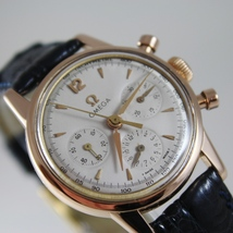 VERY RARE OMEGA 2451 WATCH 18k SOLID ROSE GOLD 321 MOVEMENT CHRONOGRAPH SWISS image 4