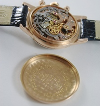 VERY RARE OMEGA 2451 WATCH 18k SOLID ROSE GOLD 321 MOVEMENT CHRONOGRAPH SWISS image 10
