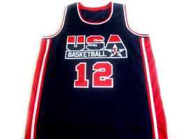 John Stockton #12 Team USA Basketball Jersey Navy Blue Any Size image 4