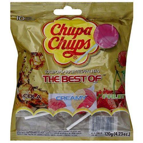 Chupa Chups The Best of Lollipops Cola Creamy Fruit 4.23 oz.