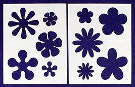 """Hippie Flower 2 Piece Stencil Set 8"""" X 10"""" - $15.99"""