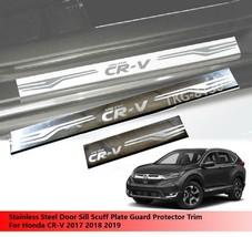 Door Sill Trim Protectors Guard For Honda CR-V CRV 2017 2018 2019 - $45.19
