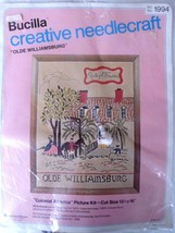 "Vintage Bucilla creative needlecraft Kit 1994 Olde Williamsburg 13.5 x 16"" - $10.73"