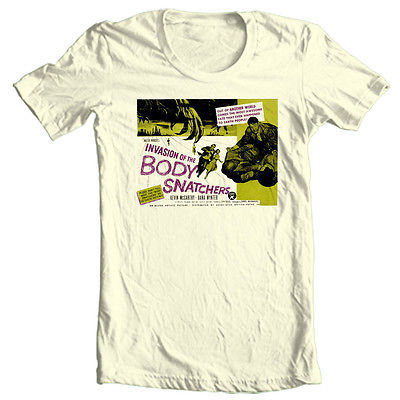 Invasion of Body Snatchers T-shirt vintage horror Sci-Fi cotton graphic tee