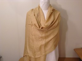 New Lurex Sparkle Gold Gold Shawl Scarf with Fringe, by Magic Scarf  - $39.99