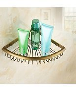 Antique Brass Bathroom Shower Corner Basket Org... - $45.53
