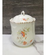 KPM Germany  Hand Painted  Biscuit Cracker Covered Jar - $31.68