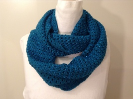 New Infinity Knitted with Sequins Scarf, 100% acrylic, 4 colors of your choice