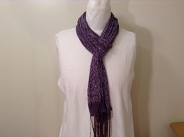 Sequined Leopard Print Sheer fabric Purple Scarf by Rikka 100% polyester