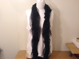 Sheer Lace Black Scarf by Magic Scarf company  image 4