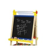 Kids Educational Easel Arts Crafts Double Sided Dry Erase & Chalk Board ... - $144.53