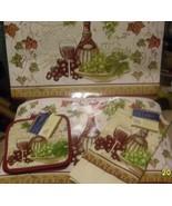 DINNER PLACEMAT SETTINGS VINYL PLACEMATS PAIR POTHOLDERS 1 DISH TOWEL TU... - $14.84