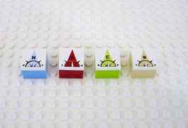 Lego N S E W North South East West Compass 2 x 2 Plate With Color Bricks - $4.99