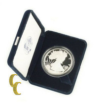 2005-W American Eagle Beweis (1oz .999 Silber) West Point mit / Etui Coa... - $69.18